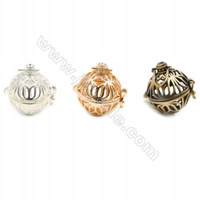 Brass Pendant Brass Plated Gold (Glod Silver Bronze)  Diameter 21mm  Inner Diameter 17mm  10pcs/pack