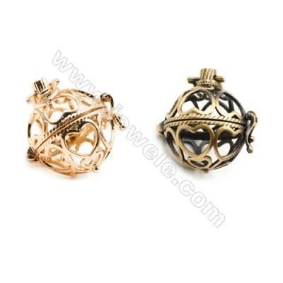 Brass Pendant Brass Plated Gold (Glod Bronze)  Diameter 20mm  Inner Diameter 17mm  10pcs/pack