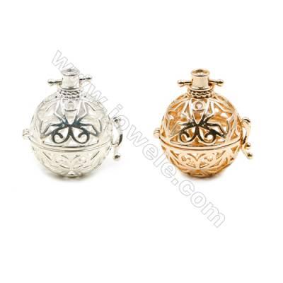 Brass Pendant Brass Plated Gold (Glod Silver)  Diameter 24mm  Inner Diameter 20mm  10pcs/pack