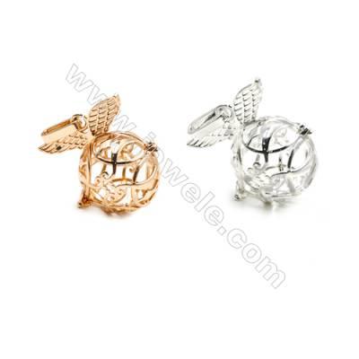 Brass Pendant Brass Plated Gold (Glod Silver)  Diameter 20mm  Inner Diameter 17mm  10pcs/pack