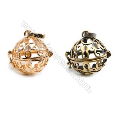 Brass Pendant Brass Plated Gold (Glod Bronze)  Diameter 21mm  Inner Diameter 17mm  10pcs/pack
