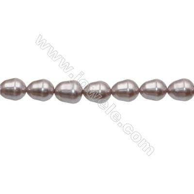 """Shell Pearl Teardrop Beads Violet Beads Strand   Size 12x15mm Hole 1.0mm 27pcs/strand 15~16"""""""