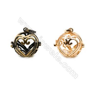 Brass Pendant Brass Plated Gold (Glod Bronze)  Size 20x20mm  Inner Diameter 17mm  10pcs/pack