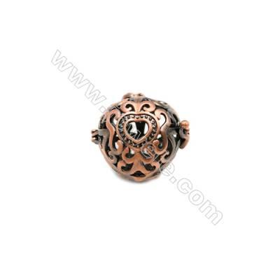 Brass Pendant Brass Plated Purple Bronze  Size 23x23mm  Hole 20x20mm  10pcs/pack