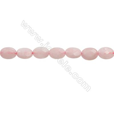 Natural Rose Quartz Beads Strand   Park flat (Faceted)  Size 10x14mm Hole 1.0mm 28pcs/strand 15~16""