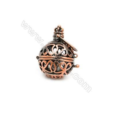 Brass Pendant Brass Plated Purple Bronze Diameter 24mm  Hole 20mm  10pcs/pack