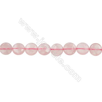Natural Rose Quartz Beads Strand  Park flat(Faceted)  Size 12mm Hole 0.8mm 33pcs/strand 15~16""