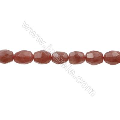 Strawberry Quartz Beads Strand  Cylindrical(Faceted)  Size 14x18mm Hole 1mm 22pcs/strand 15~16""