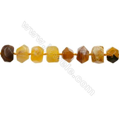 Yellow Opal Beads Strand  Cylindrical(faceted)  Size 12x16mm Hole 1.0mm 30pcs/strand 15~16""
