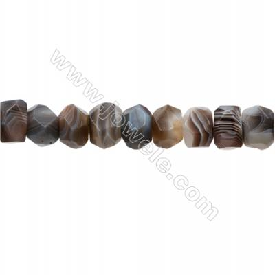 Natural Botswana Agate Beads Strand  Cylinder(Faceted)  Size 14x19mm  hole 1.0mm  30pcs/strand 15~16''