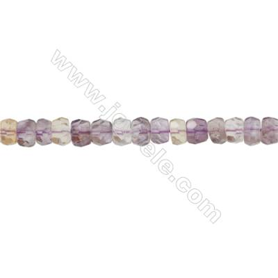 Ametrine Beads Strand   Abacus(faceted)  Size 6x9mm  Hole 0.8mm 74pcs/strand 15~16""