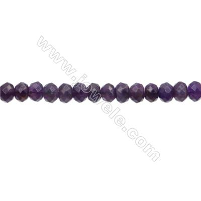 Amethyst Beads Strand   Abacus(Faceted)  Size 6x8mm Hole 0.8mm 70pcs/strand 15~16""