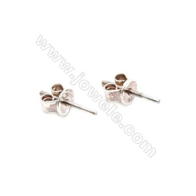925 Sterling Silver Earring Stud  Size 4.5x11mm  Pin 0.8mm  20pcs/pack