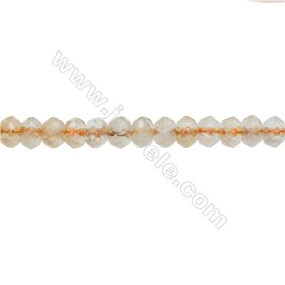 Citrine Beads Strand   Abacus (Faceted)  Size 5x7mm  Hole 0.8mm  76pcs/strand 15~16""