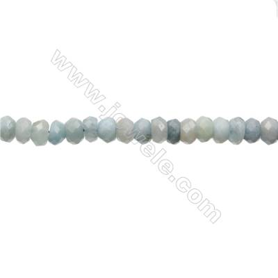 Natural Aquamarine Beads Strand  Abacus  Size 5x7mm  Hole 0.8mm  86pcs/strand 15~16""