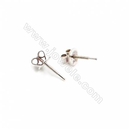 925 Sterling Silver Earring Stud  Size 5.5x12mm  Pin 0.8mm  20pcs/pack