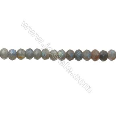 Natural Labradorite Beads Strand Abacus (Faceted)  Size 5x8mm  Hole 0.8mm  72pcs/strand 15~16""