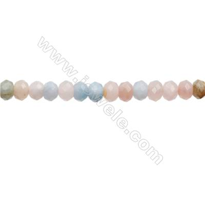 Mixed Aquamarine Beads Strand  Abacus (Faceted)  Size 6x8mm  Hole 0.8mm  68pcs/strand 15~16""