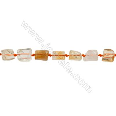 Natural Citrine Beads Strand  Irregular Rectangle  Size 9x11mm Hole 0.8mm 30pcs/strand 15~16""