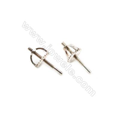 925 Sterling Silver Earring Stud  Size 5x11mm  Pin 0.85mm  30pcs/pack