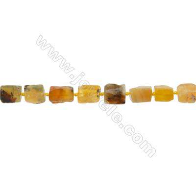 Yellow Opal Beads  Irregular Rectangle  Size 10x13mm  Hole 0.8mm  29pcs/strand  15~16""