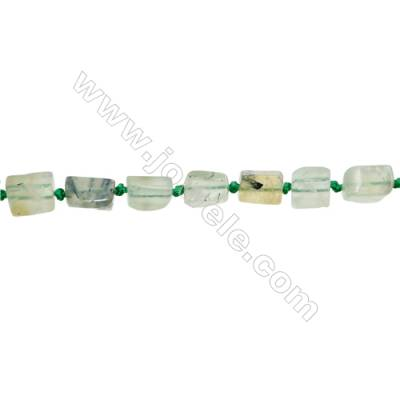 Natural Prehnite Beads Strand  Irregular Rectangle  Size 7x10mm  Hole 0.8mm  28pcs/strand  15~16""