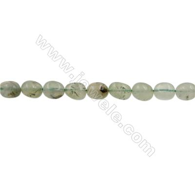 Natural Prehnite Beads Strand  Irregular Oval  Size 9x12mm  Hole 0.8mm  33pcs/strand  15~16""