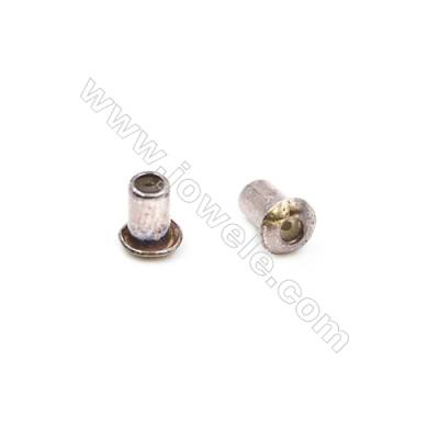 925 Sterling Silver Earnuts  Size 3.9x4.7mm  Hole 0.6mm  20pcs/pack