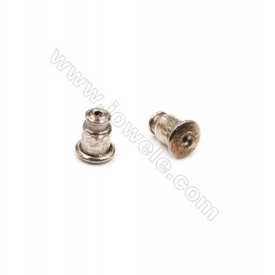 925 Sterling Silver Earnuts  Size 5x6.5mm  Hole 0.3mm  30pcs/pack