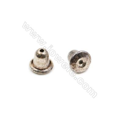 925 Sterling Silver Earnuts  Size 4.75x5mm  Hole 0.3mm  30pcs/pack