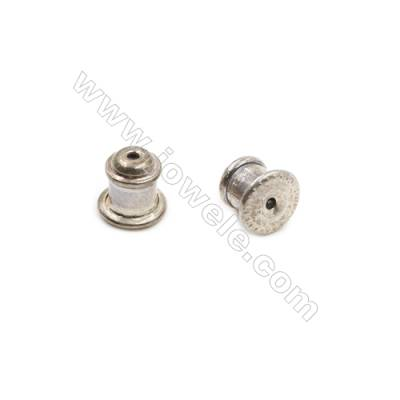 925 Sterling Silver Earnuts  Size 6x6mm  Hole 0.3mm  10pcs/pack