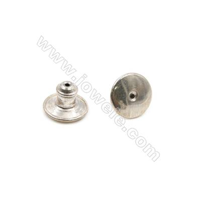 925 Sterling Silver Earnuts  Size 7x10mm  Hole 0.3mm  10pcs/pack
