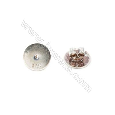 925 Sterling Silver Earnuts  Size 4x8mm  Hole 0.8mm  20pcs/pack
