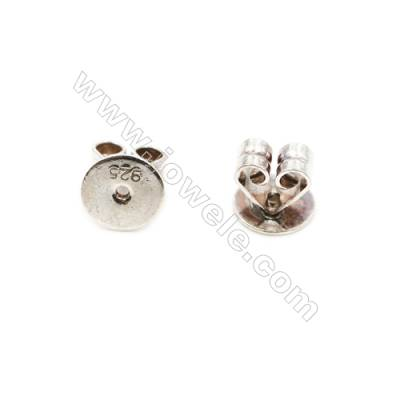 925 Sterling Silver Earnuts  Size 6x6.5mm  Hole 0.8mm  30pcs/pack