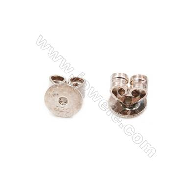 925 Sterling Silver Earnuts  Size 5x5.5mm  Hole 0.8mm  30pcs/pack