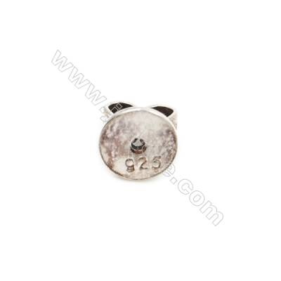 925 Sterling Silver Earnuts  Size 4x5mm  Hole 0.8mm  30pcs/pack