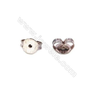 925 Sterling Silver Earnuts  Size 3.5x6.5mm  Hole 0.8mm  80pcs/pack