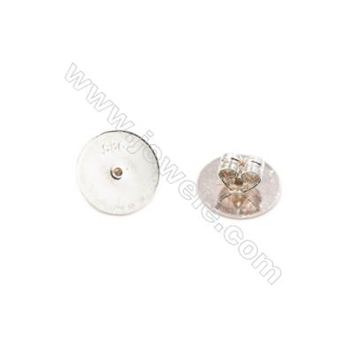 925 Sterling Silver Earnuts  Size 5x10mm  Hole 1.0mm  12pcs/pack