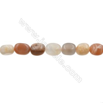 Natural Moonstone Beads Strand  Irregular Oval   Size 12x16mm  Hole 0.8mm  26 pcs/strand  15~16""