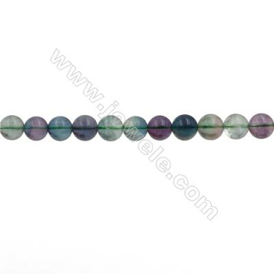 Natural Fluorite Beads Strand  Round  Size 10mm  Hole 0.8mm  41pcs/strand  15~16""