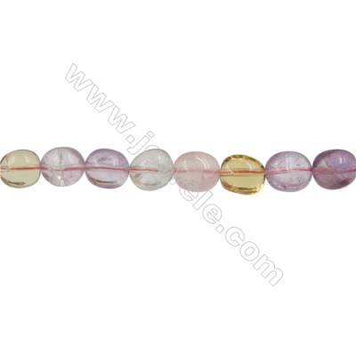 Natural Amethyst Beads Strand  Irregular Oval   Size 12x14mm  Hole 0.8mm  28 pcs/strand  15~16""