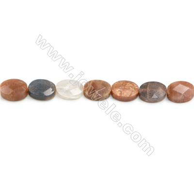Mixed Moonstone Beads Strand  Rondelle (Faceted)   Size 10x14mm  Hole 0.8mm  22 pcs/strand  15~16""