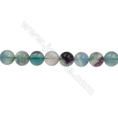 Natural Fluorite Beads Strand  Round  Size 14mm  Hole 0.8mm  28pcs/strand  15~16""