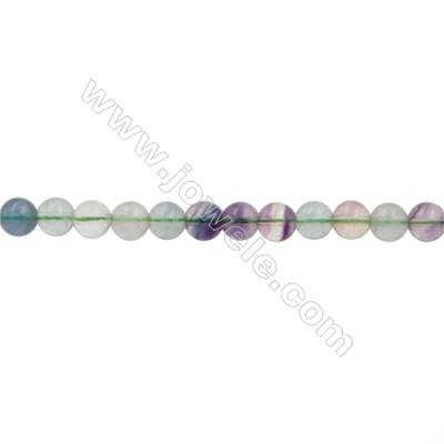 Natural Fluorite Beads Strand  Round  Size 6mm  Hole 0.8mm  67pcs/strand  15~16""