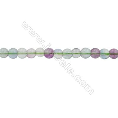 Natural Fluorite Beads Strand  Round  Size 4mm  Hole 0.7mm  100pcs/strand  15~16""