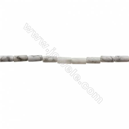 Howlite Beads Strand  Cylindrical  Size 4x8mm  Hole 0.8mm  50pcs/strand  15~16""