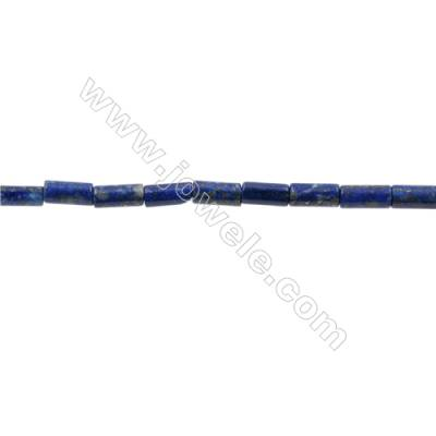 Natural Lapis Lazuli Beads Strand  Cylindrical  Size 4x8mm  Hole 0.8mm  50pcs/strand  15~16""