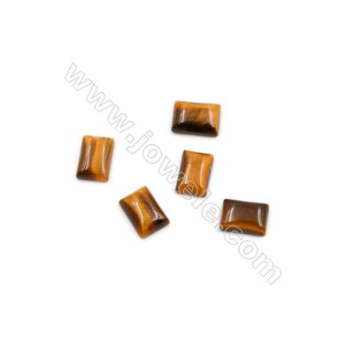 Natural Tiger's Eye Stone Cabochons  Size 5x7mm  Thick 2mm  50pcs/pack