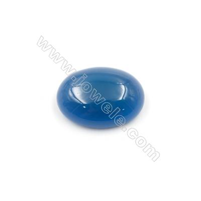 Natural Blue Agate Cabochon Oval  Size 15x20mm Thick 7mm  30pcs/pack