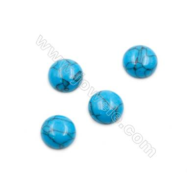 Turquoise Gemstone Cabochon  Round  Synthesis  Size 10mm Thick 4mm  150pcs/pack